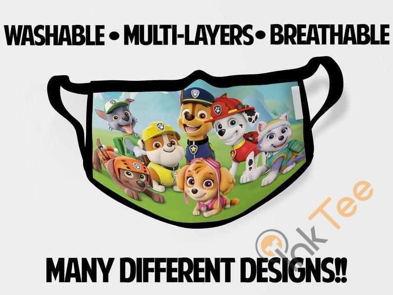 Paw Patrol Chase Childrens Kids Reusable 5060 Face Mask