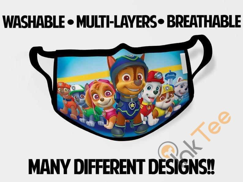 Paw Patrol Chase Childrens Kids Reusable 5061 Face Mask