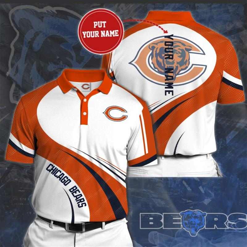 Personalized Chicago Bears No75 Polo Shirt