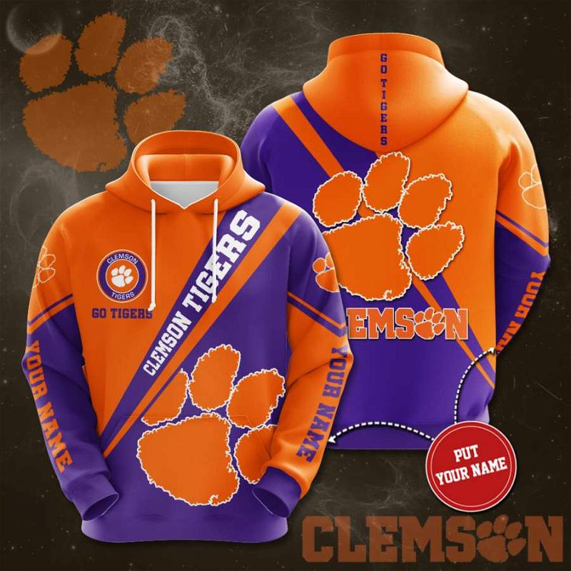 Personalized Clemson Tigers No438 Custom Hoodie 3D