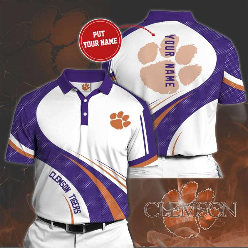 Personalized Clemson Tigers No84 Polo Shirt