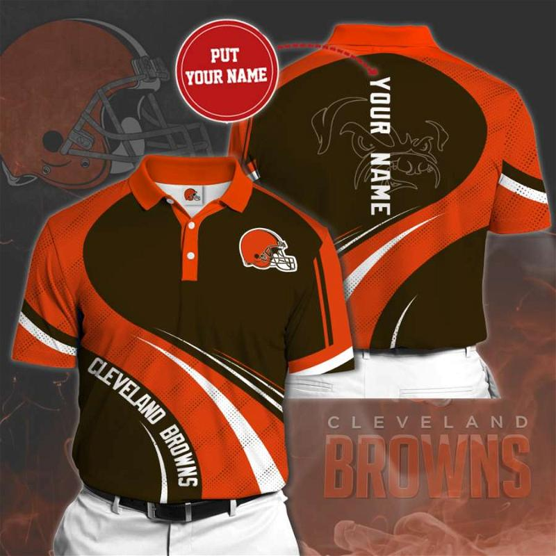 Personalized Cleveland Browns No77 Polo Shirt