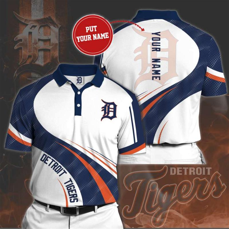 Personalized Detroit Tigers No90 Polo Shirt