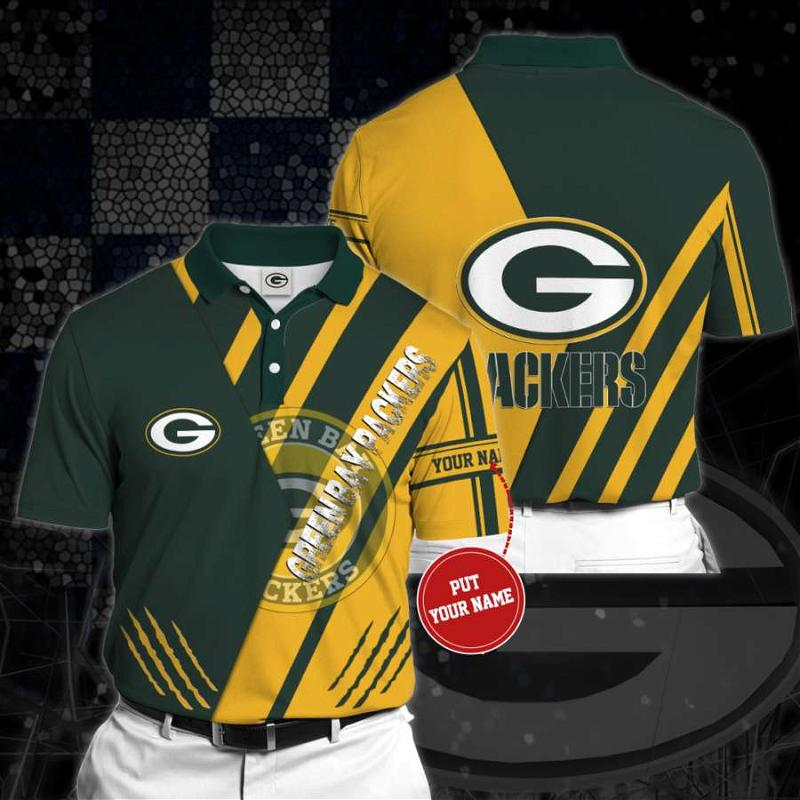 Personalized Green Bay Packers No97 Polo Shirt