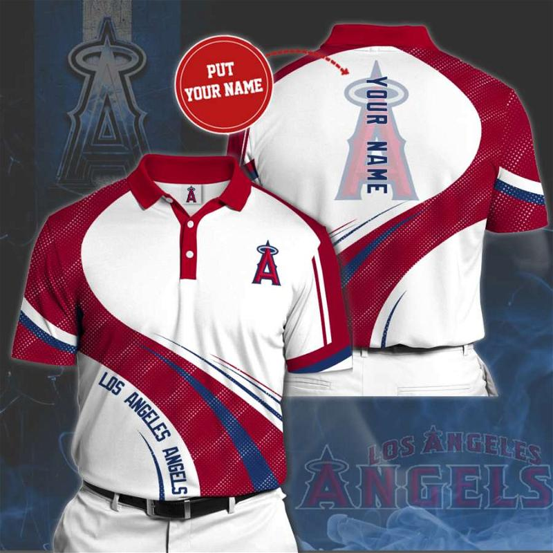 Personalized Los Angeles Angels No111 Polo Shirt
