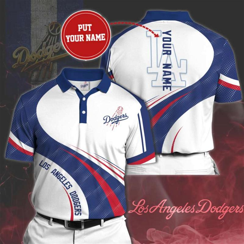 Personalized Los Angeles Dodgers No113 Polo Shirt