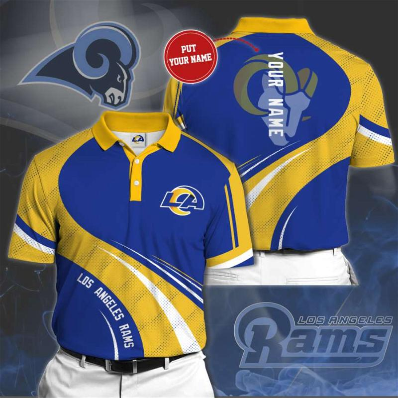 Personalized Los Angeles Rams No114 Polo Shirt