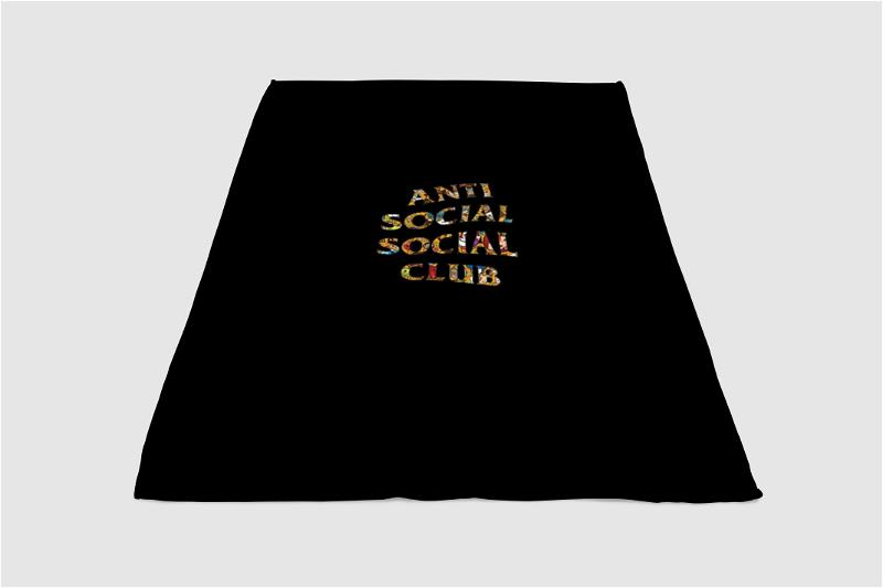 Pop Art Anti Social Social Club Fleece Blanket