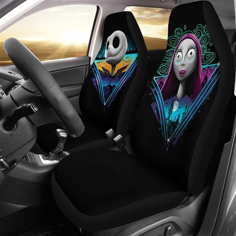 Rad Jack And Sally The Nightmare Before Christmas Car Seat Covers