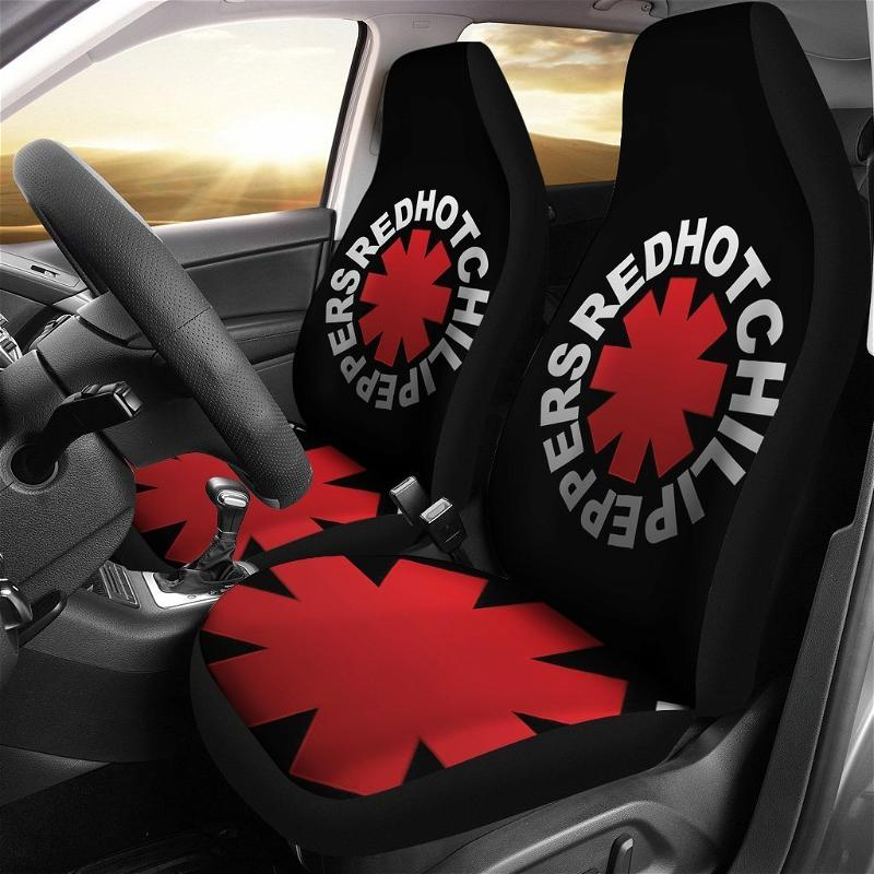 Red Hot Chili Peppers Logo Art Car Seat Covers