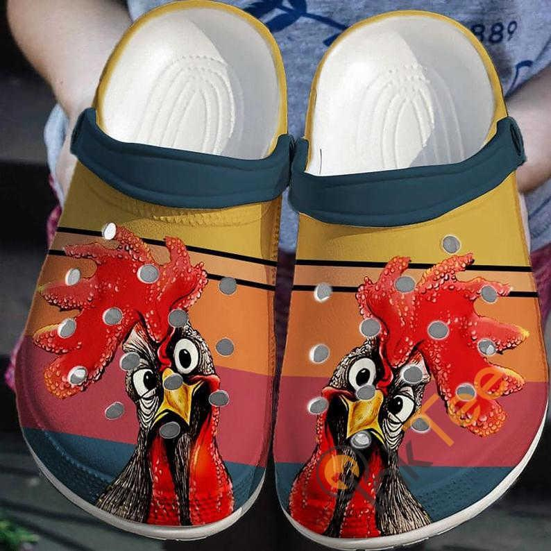 Rooster Peckers Chicken Retro Vintage Crocs Clog Shoes