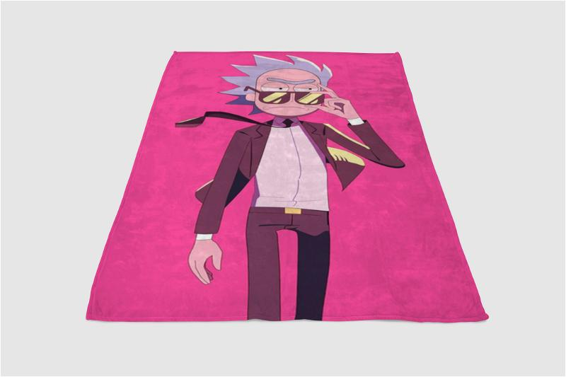 Run The Jewels Rick And Morty Fleece Blanket
