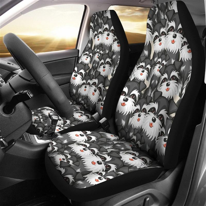 Schnauzer Dogs Shades Art Car Seat Covers
