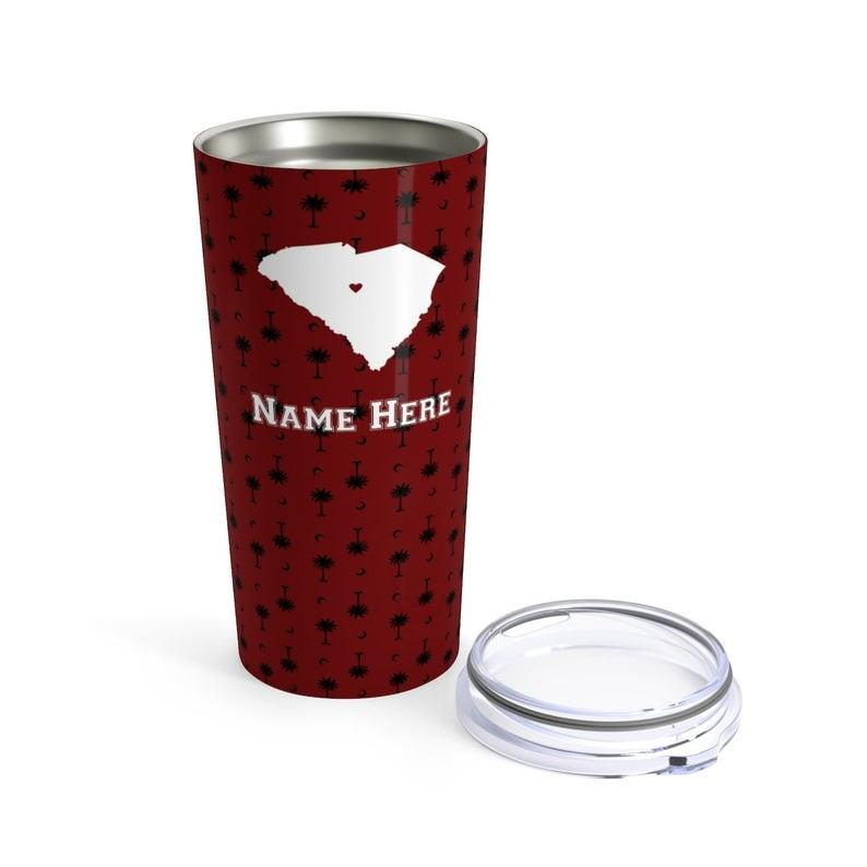 State Pride Series Columbia South Carolina - Personalized Custom Tumbler Travel Mug For Warm Cold Drinks - 20oz With Lid Dishwasher Safe Stainless Steel Tumbler