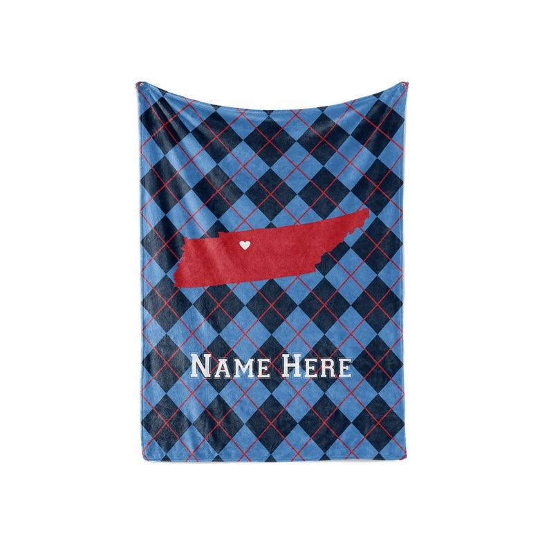 State Pride Series New York - Personalized Custom Fleece Or Sherpa Blankets With Your Family Name Fleece Blanket