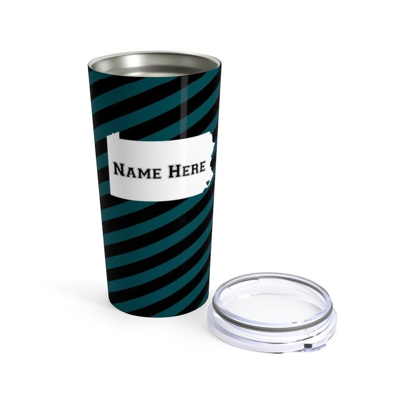 State Pride Series Philadelphia Eagles - Personalized Custom Tumbler Travel Coffee Mug For Warm Cold Drinks - 20oz With Lid Dishwasher Safe Stainless Steel Tumbler