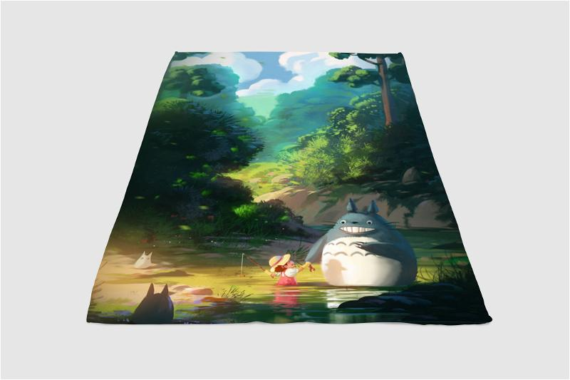 Sunset Mei Totoro Fleece Blanket