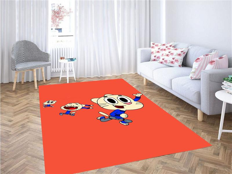 The Amazing World Of Gumball Action Carpet Rug