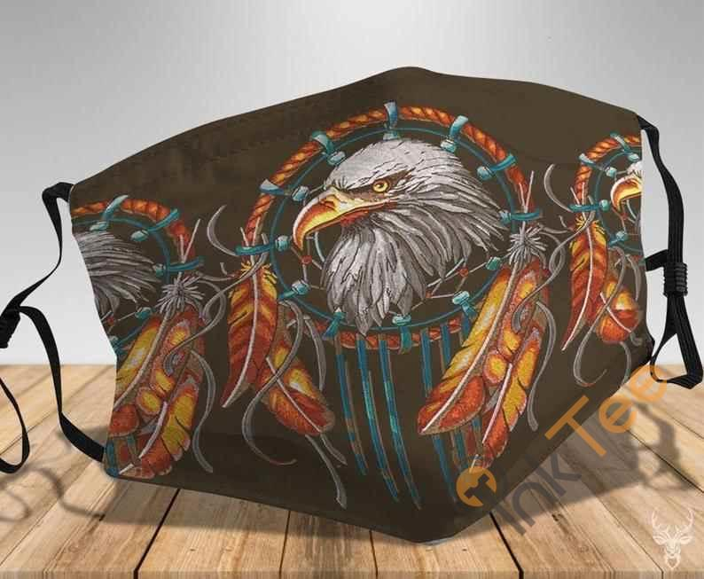 The Eagle Native American With Feathers Handmade Anti Droplet Filter Cotton Face Mask