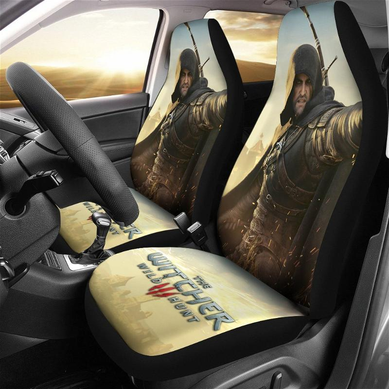 The Witcher 3: Wild Hunt Geralt Game Car Seat Covers