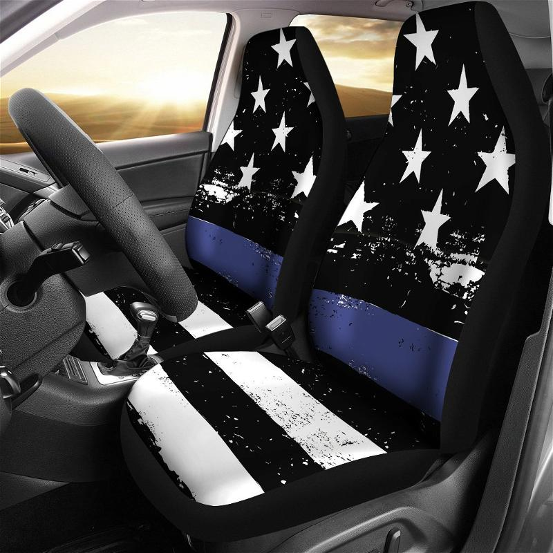Thin Blue Line Amazing Gift Ideas Car Seat Covers