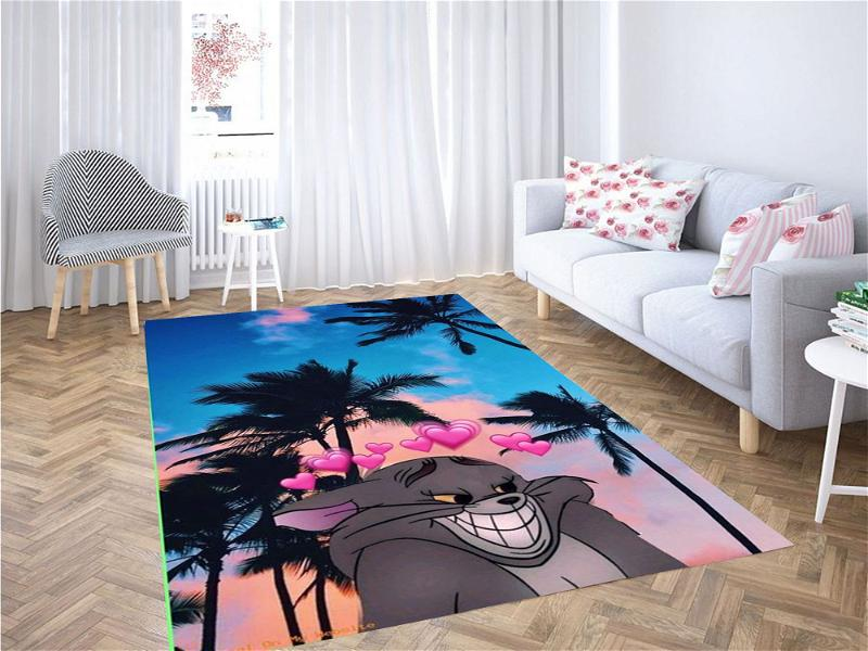 Tom And Jerry Wallpaper Carpet Rug