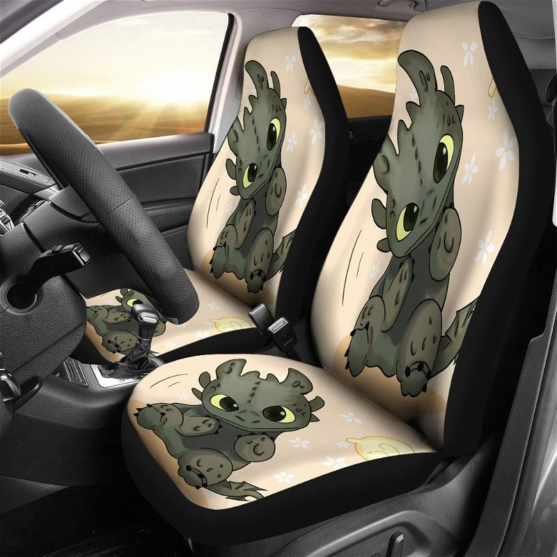 Toothless Cute Love Dragon Car Seat Covers