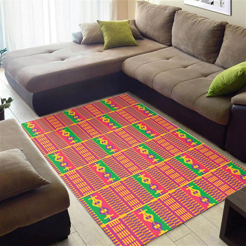 Trendy African American Adorable Print Seamless Pattern Large Carpet Inspired Living Room Rug
