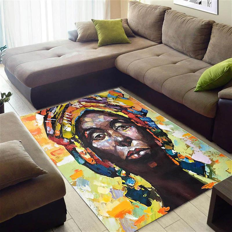 Trendy African American Beautiful Themed Black Girl Style Area Rug