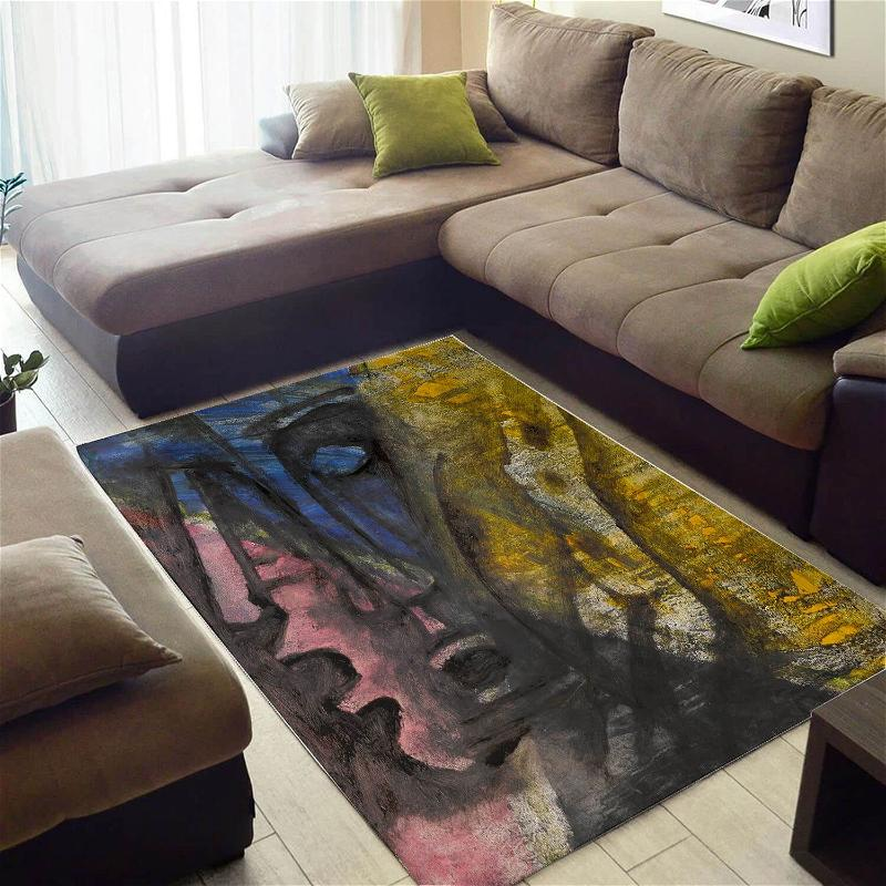 Trendy African American Graphic Afro Seamless Pattern Large Living Room Rug