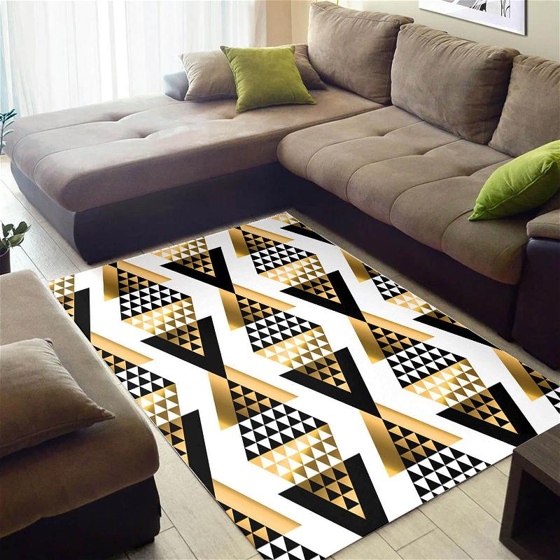 Trendy African American Vintage Afrocentric Seamless Pattern Design Floor Style Rug