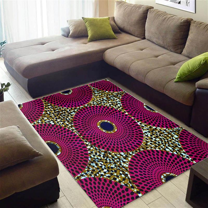 Trendy African Attractive Black History Month Afrocentric Art Carpet Inspired Home Rug