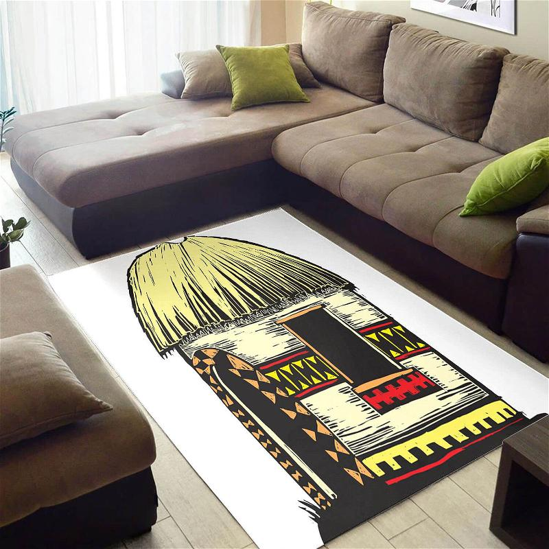 Trendy African Beautiful Natural Hair Afrocentric Art Style Carpet Room Rug