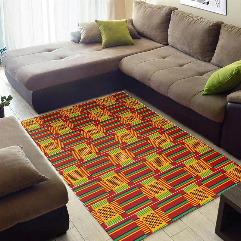 Trendy African Holiday Natural Hair Ethnic Seamless Pattern Carpet Themed Home Rug