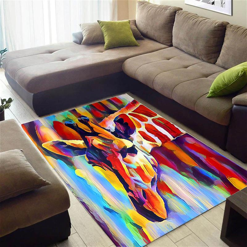 Trendy African Pretty Afrocentric Woman Style Carpet House Rug