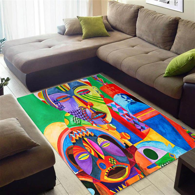 Trendy African Pretty Inspired Melanin Afro Woman Themed Living Room Rug
