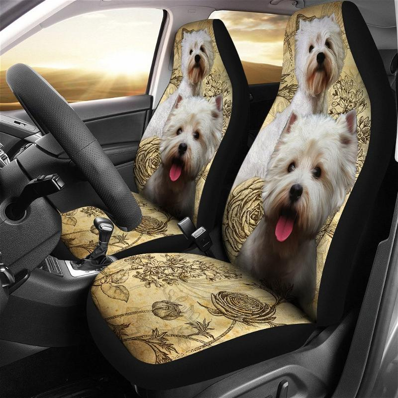 West Highland White Terrier Dogs Car Seat Covers
