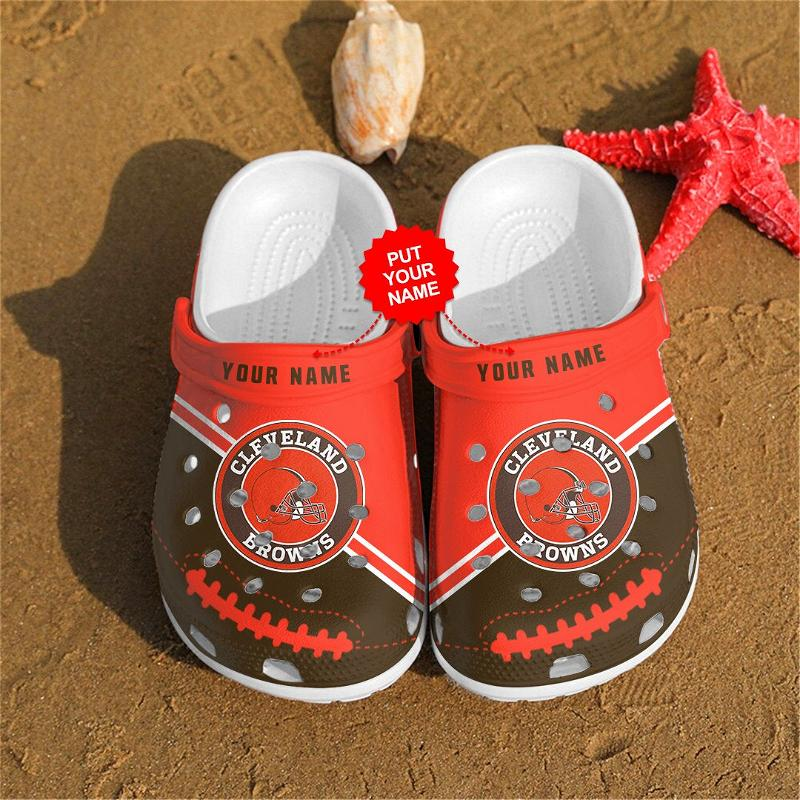 Cleveland Browns Personalized Custom For Nfl Fans Crocs Clog Shoes