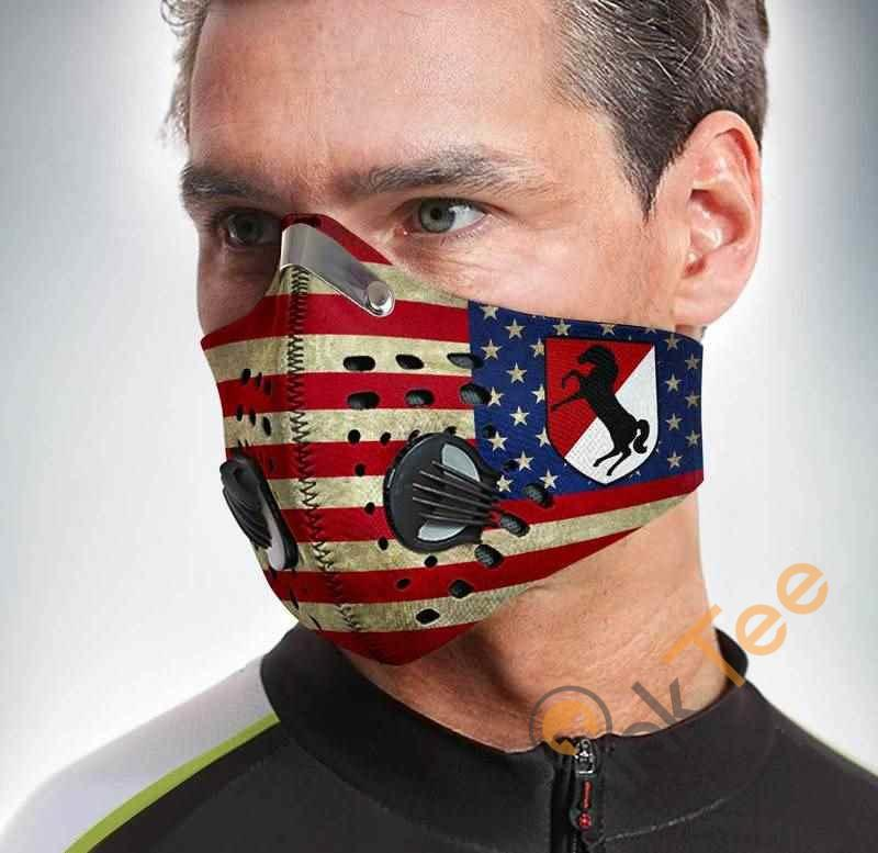 11th Armored Cavalry Regiment Filter Activated Carbon Pm 2.5 Fm Face Mask