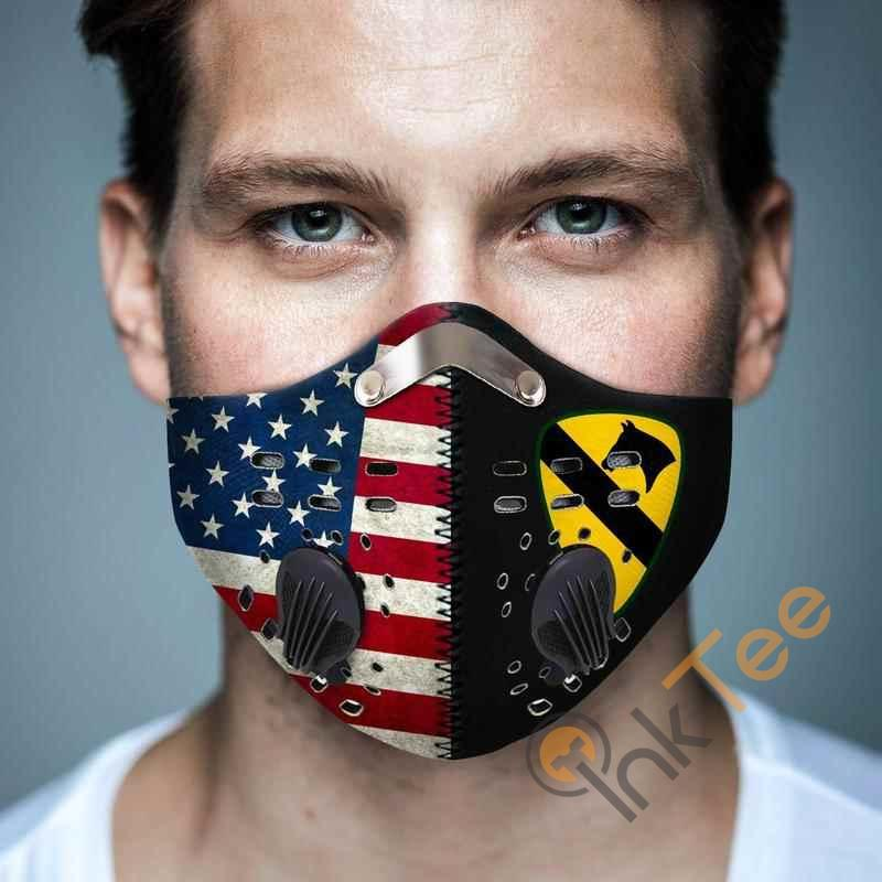 1st Cavalry Division Filter Activated Carbon Pm 2.5 Fm Face Mask