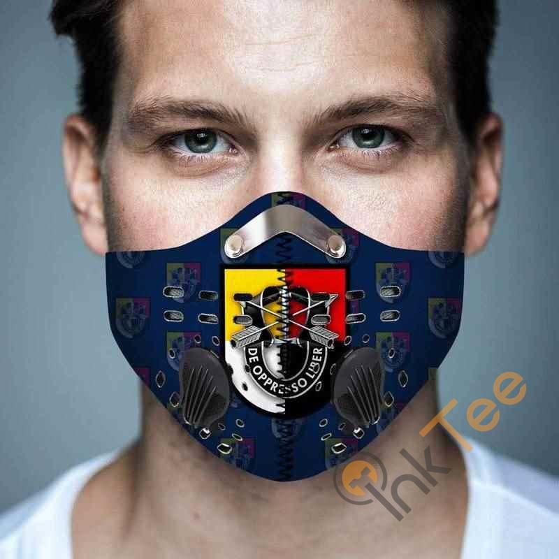 3rd Special Forces Group Filter Activated Carbon Pm 2.5 Fm Face Mask