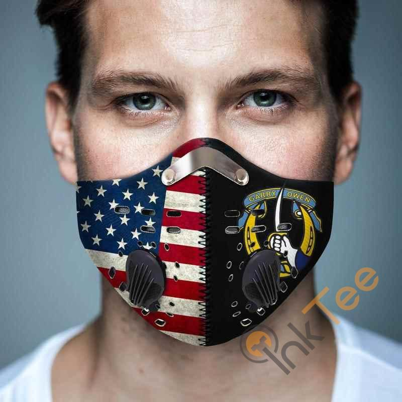 7th Cavalry Regiment Filter Activated Carbon Pm 2.5 Fm Face Mask