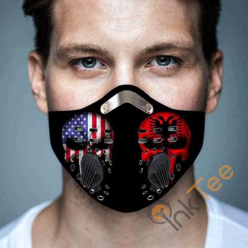 Albania And America Filter Activated Carbon Pm 2.5 Fm Face Mask