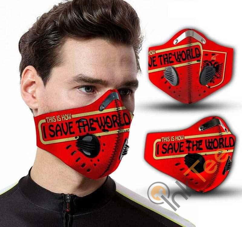 Albania Save The World Filter Activated Carbon Pm 2.5 Fm Face Mask