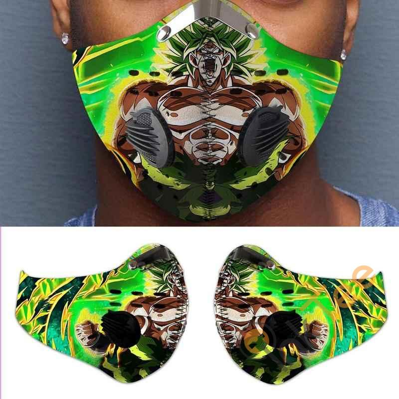 Dragon Ball Super Broly Activated Carbon Pm 2.5 Fm Face Mask