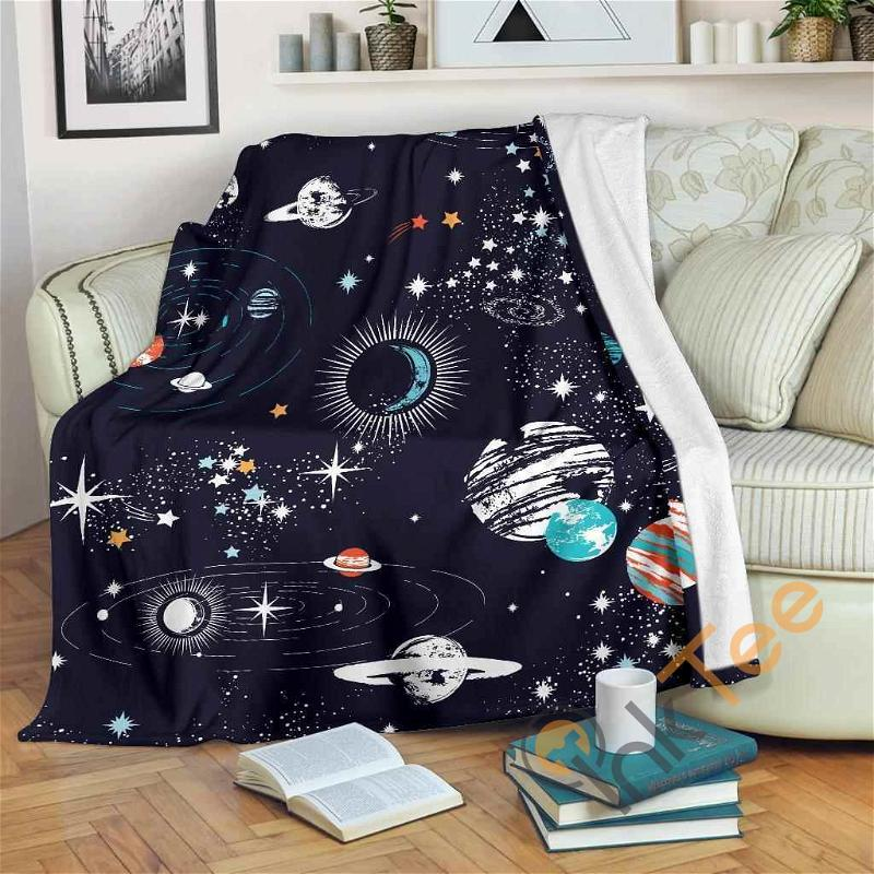 Universe Galaxy Outer Space Premium Fleece Blanket