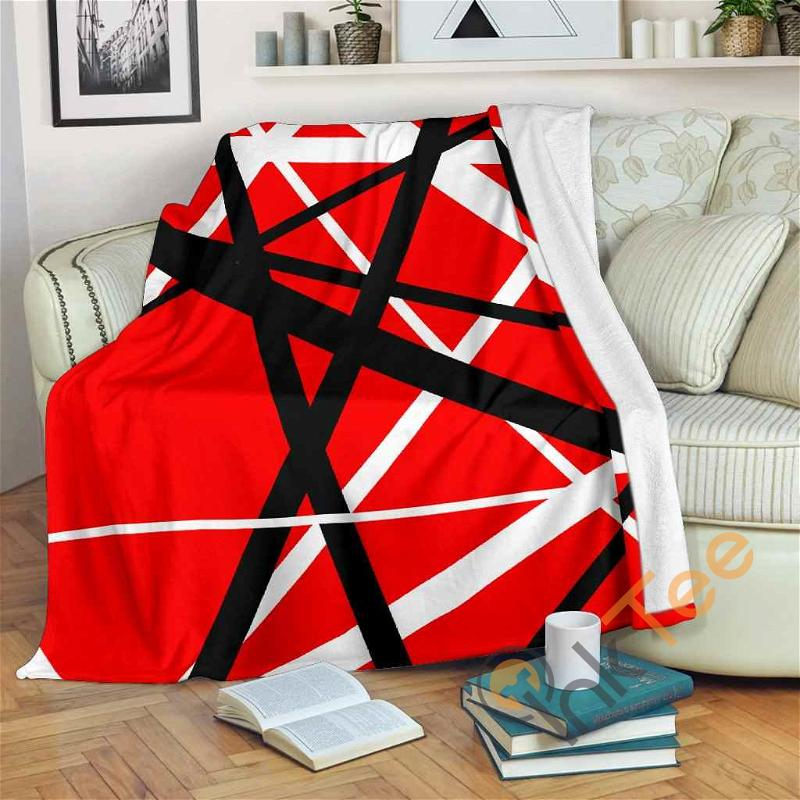 Van Halen Stripes Premium Fleece Blanket