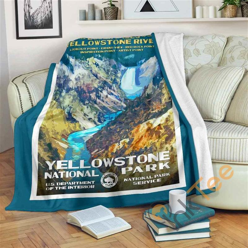 Yellowstone National Park Premium Fleece Blanket