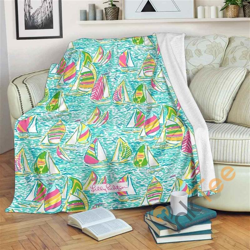 You Gotta Regatta Lilly Pulitzer Fleece Blanket