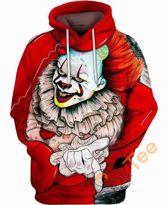 It Pennywide The Clown Red Hoodie 3d